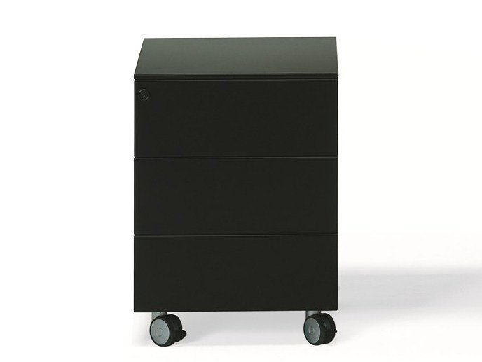 Metal office drawer unit with casters ERNESTO WORK | Office drawer unit by YDF
