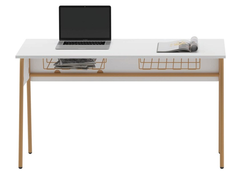 Laminate School Desk And Metal Frame Erwin By Ersa