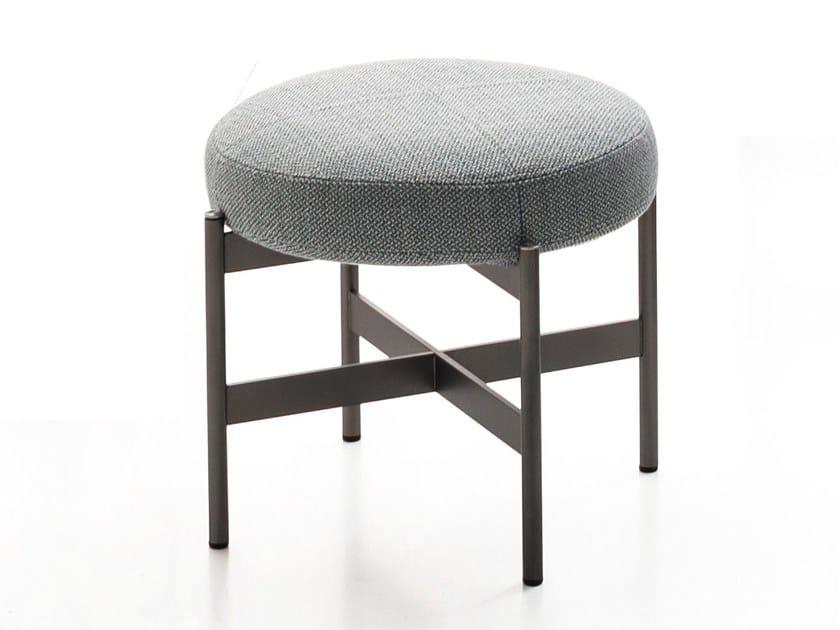 Upholstered fabric stool ERYS | Stool by Ditre Italia