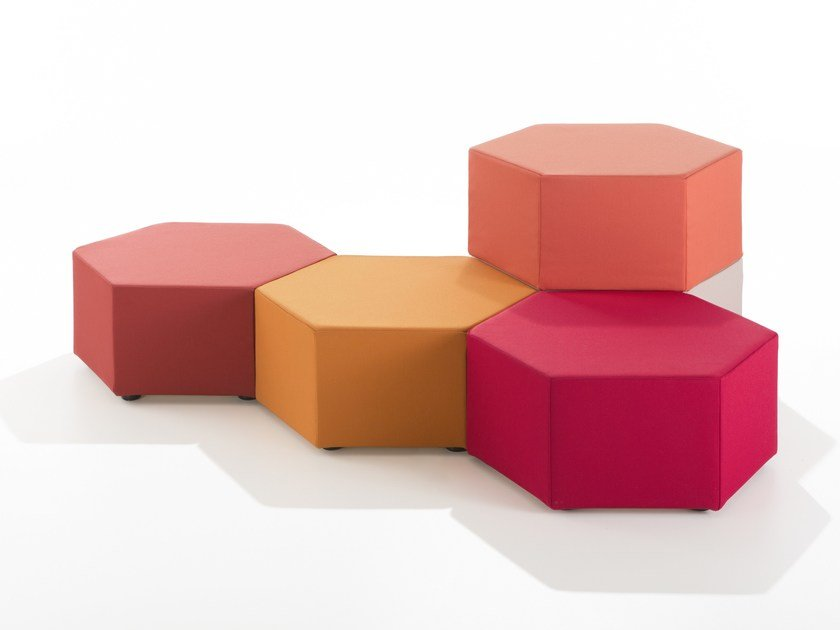 Fabric pouf ESA by B-LINE