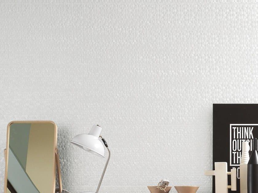 White-paste 3D Wall Cladding FORME BIANCHE ESAGONETTE by Impronta Ceramiche