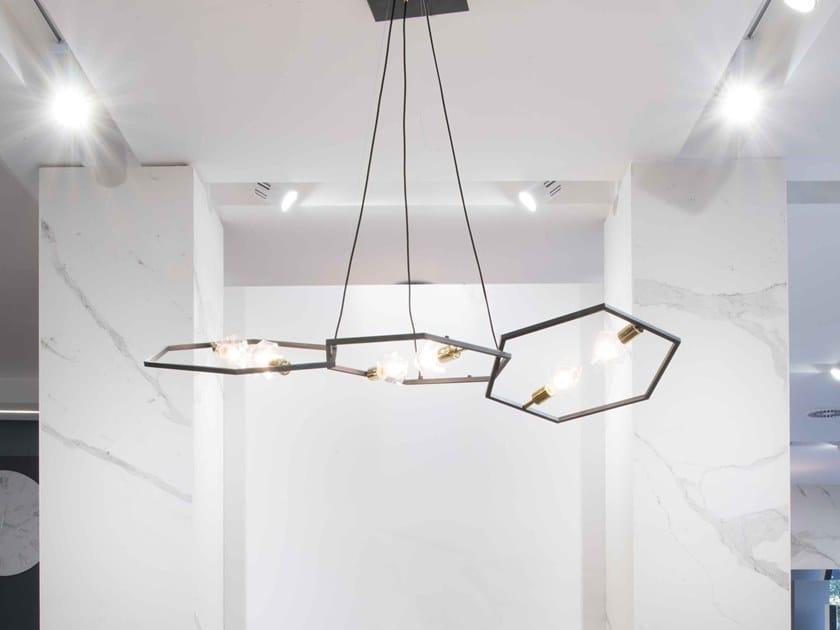 Metal pendant lamp ESAGONO by RIFLESSI