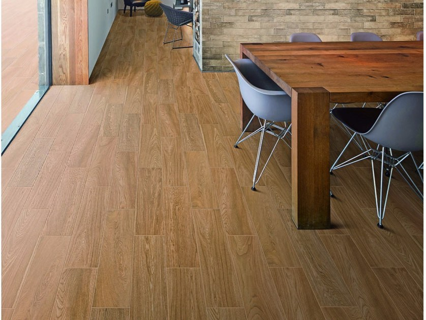 Glazed stoneware flooring with wood effect ESCAPE by Ragno