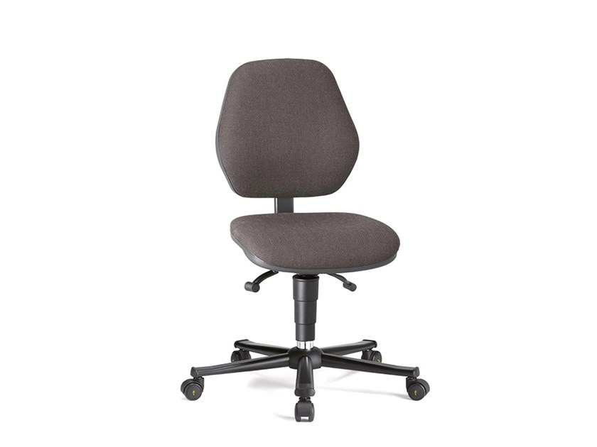 Work chair with 5-Spoke base with casters ESD BASIC 9151E by bimos