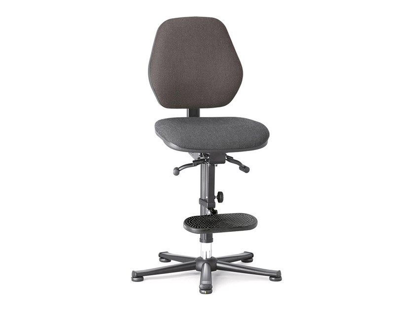 Work chair with 5-Spoke base and footrest ESD BASIC 9152E by bimos