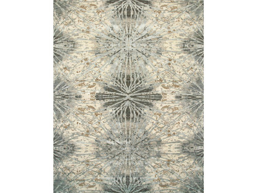 Handmade rug THEA ESK-400 Antique White/Slate Blue by Jaipur Rugs