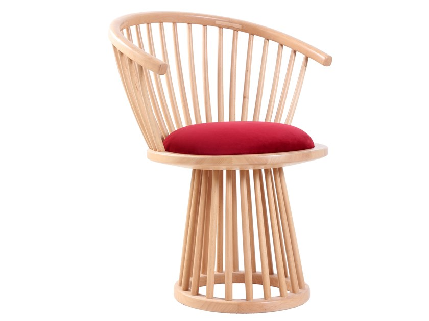 Wooden chair with integrated cushion ESKI   Chair with integrated cushion by ALANKARAM