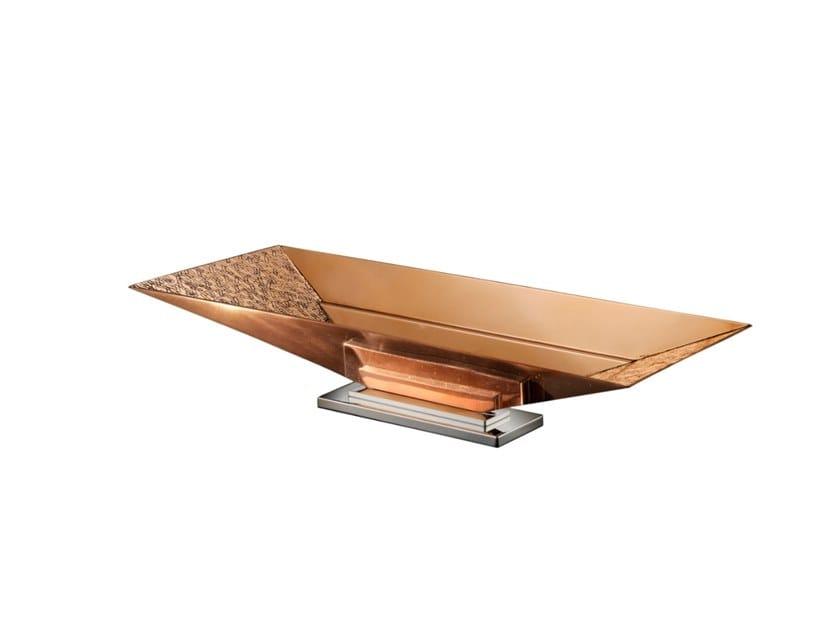 Bronze and copper centerpiece ESPANSIONE | Copper centerpiece by ZANETTO