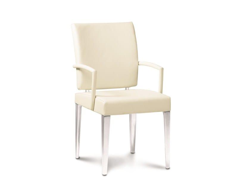 Upholstered metal chair ESRADA by JORI