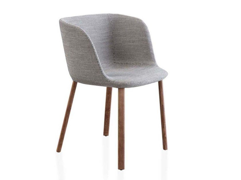 Upholstered fabric chair with armrests ESSE | Chair with armrests by PIANCA