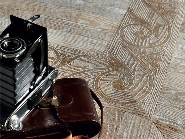 Marble flooring with wood effect ESSENCE - FLEUR DE BOIS by Lithos Mosaico Italia