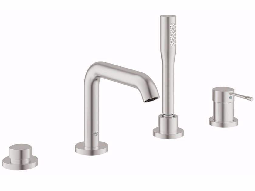 4 hole bathtub set with diverter ESSENCE NEW | Bathtub set with hand shower by Grohe