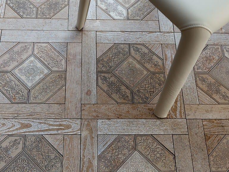 Marble flooring with wood effect ESSENCE - QUADROTTA 1 by Lithos Mosaico Italia