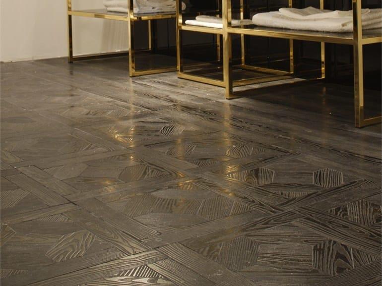 Marble flooring with wood effect ESSENCE - QUADROTTA 1G by Lithos Mosaico Italia