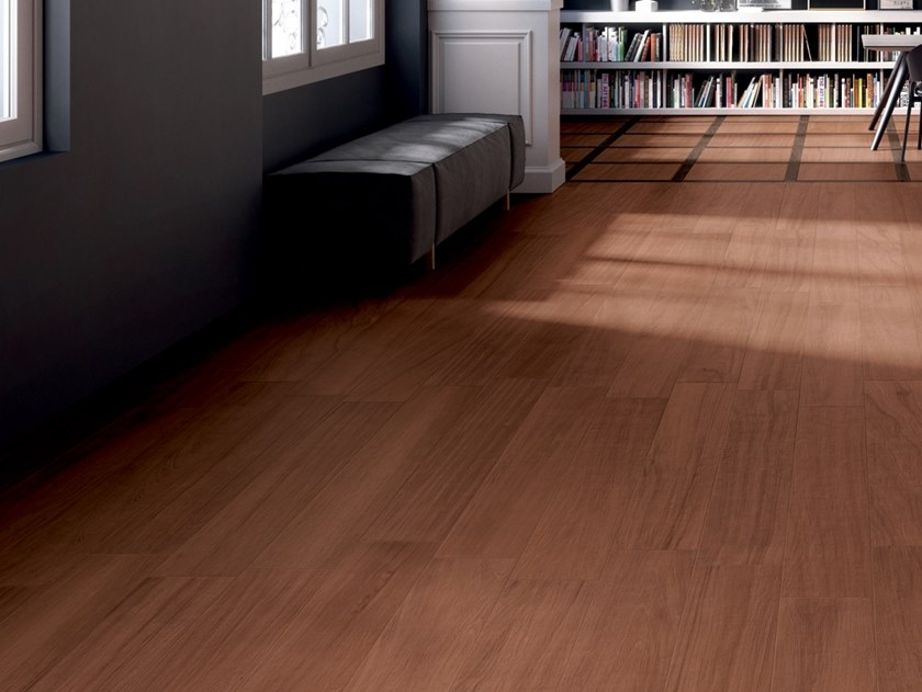 Porcelain stoneware wall/floor tiles with wood effect ESSENCES EXTRA MAHOGANY by Marca Corona