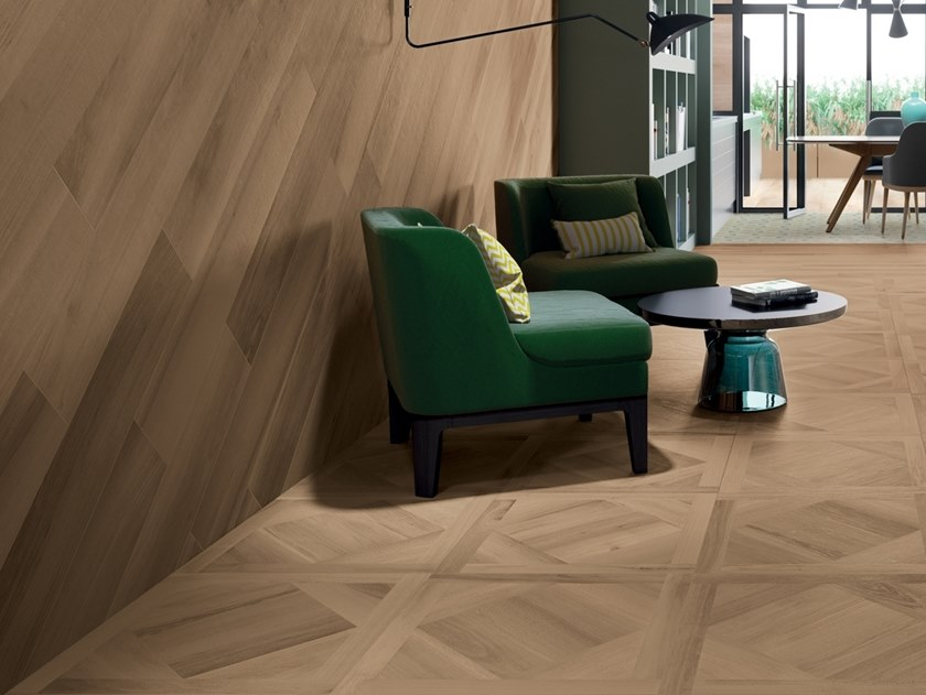 Porcelain stoneware wall/floor tiles with wood effect ESSENCES EXTRA WALNUT by Marca Corona