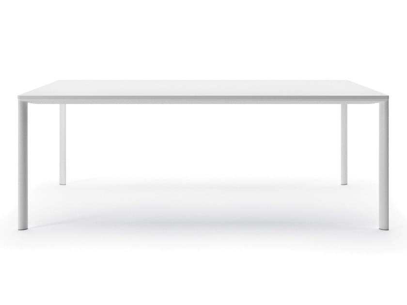 Rectangular aluminium table ESSENTIAL by Alias