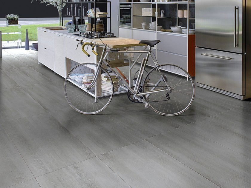 Porcelain stoneware flooring with textile effect ESSENTIAL by CERAMICHE BRENNERO