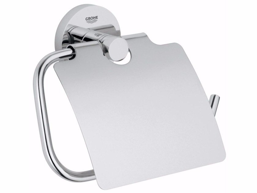 Metal toilet roll holder ESSENTIALS   Toilet roll holder by Grohe