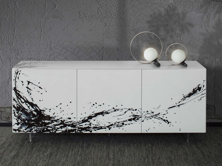Lacquered wooden sideboard with doors ESSENZIA ART by RIFLESSI