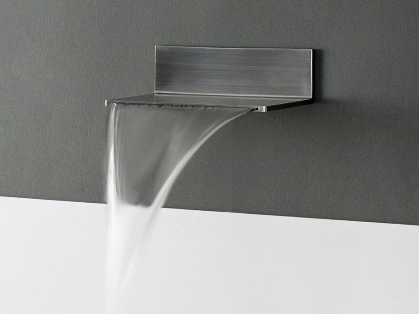 Wall-mounted stainless steel waterfall spout MINI ESTANTE by tender rain