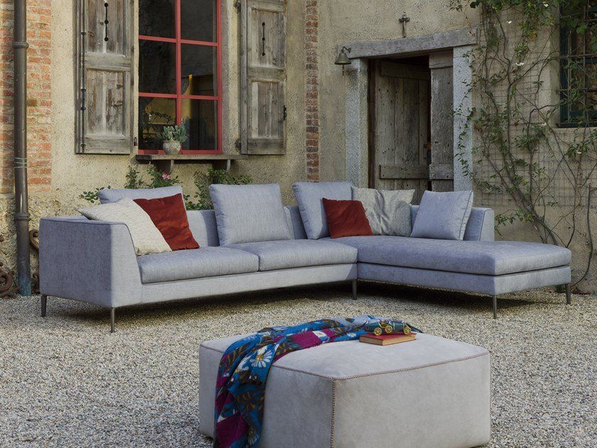 Corner sectional fabric sofa ESTELLE | Sectional sofa by Flexstyle