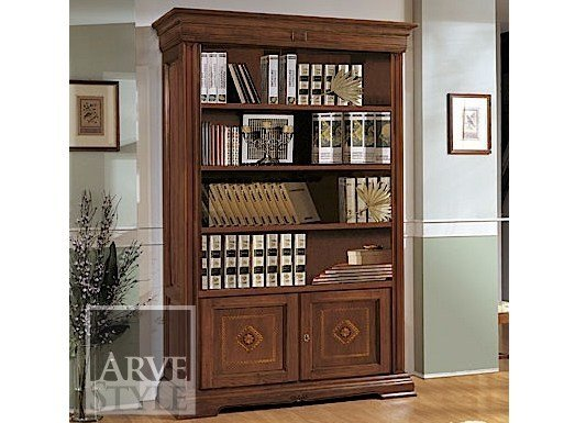 Open solid wood bookcase ESTENSI | Open bookcase by Arvestyle