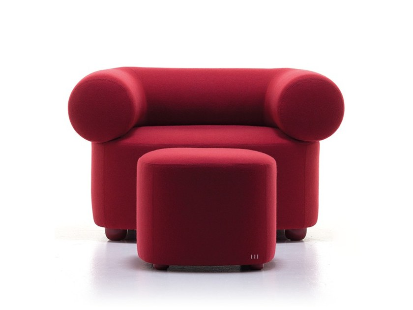 Fabric armchair with armrests ESTER-A by Ferrante