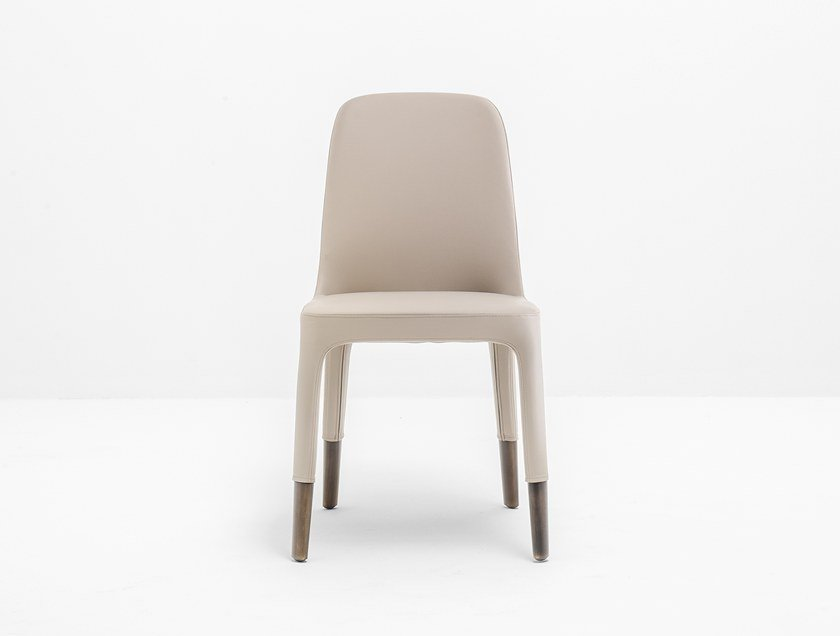Upholstered leather restaurant chair ESTER 691 by PEDRALI