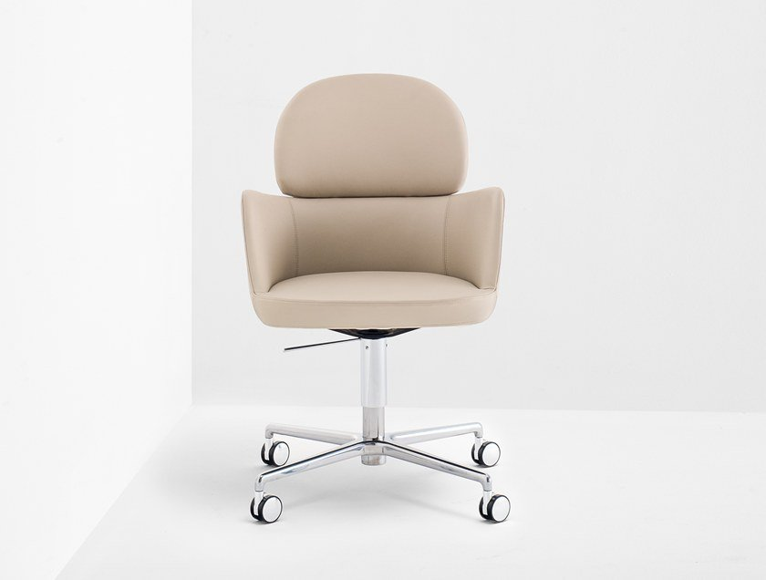 Medium back executive chair with 4-spoke base ESTER 696 by PEDRALI