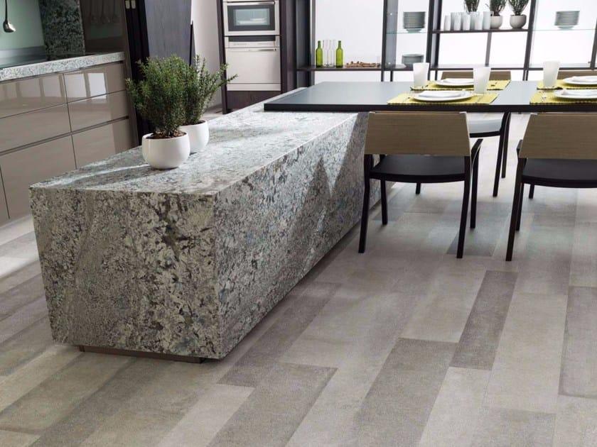 Pavimento in gres porcellanato effetto pietra per interni ed