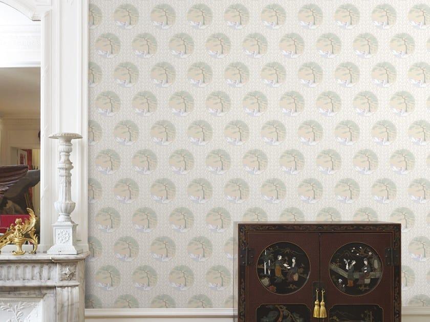 Dotted non-woven paper wallpaper ETANGS DE COROT by Isidore Leroy
