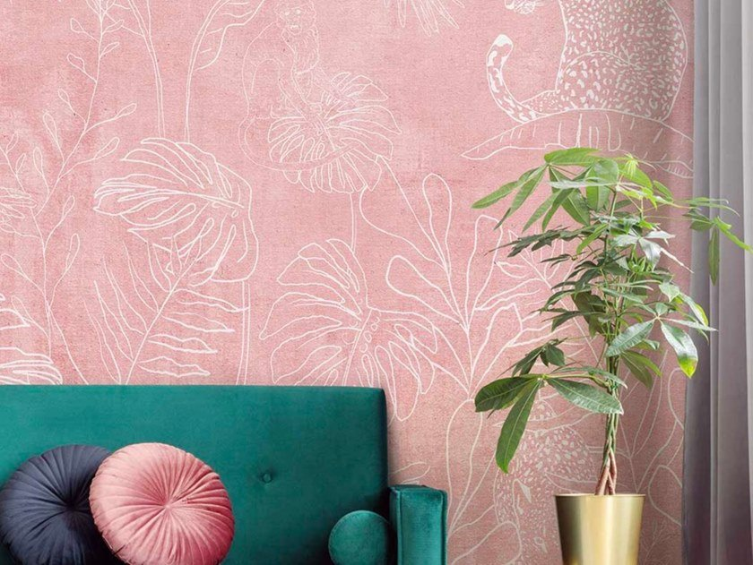 Carta da parati orientale PVC free, eco-friendly, lavabile ETCHING by Wallpepper Group