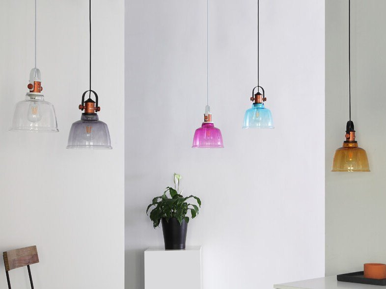 LED glass pendant lamp ETEL | Glass pendant lamp by MUMOON