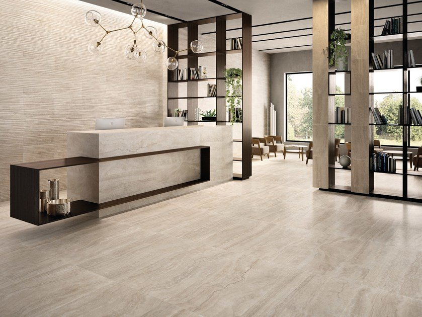 Porcelain stoneware wall/floor tiles ETERNA BEIGE by EmilCeramica by Emilgroup