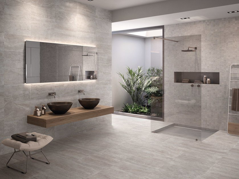 Porcelain stoneware wall/floor tiles ETERNA SILVER by EmilCeramica by Emilgroup