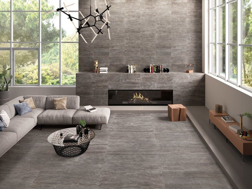 Porcelain stoneware wall/floor tiles ETERNA TITANIO by EmilCeramica by Emilgroup