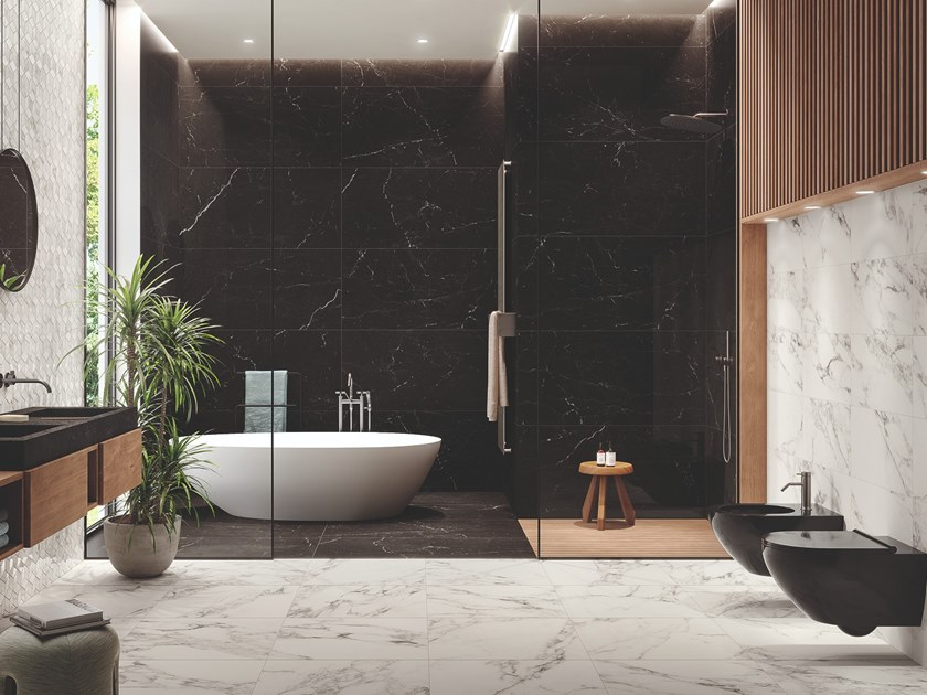 Porcelain stoneware wall/floor tiles with marble effect ETERNITY | Wall/floor tiles by Panaria Ceramica