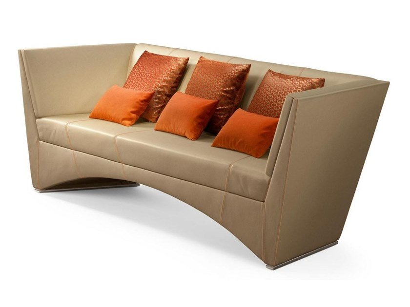 2 seater leather sofa ETHAN by Sicis