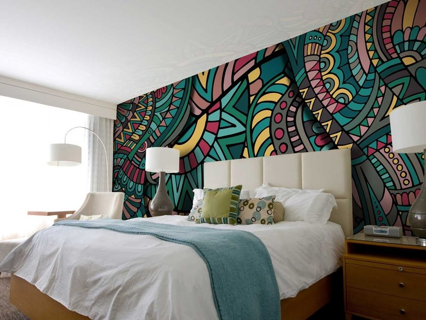Motif non-woven paper wallpaper ETHNIC by LGD01