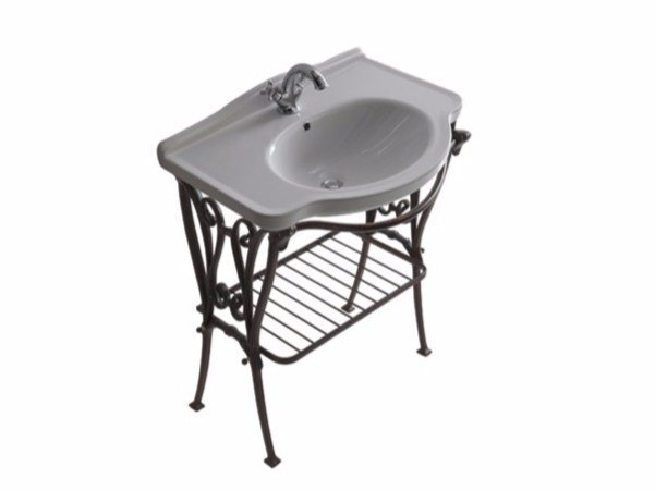 Aluminium console sink ETHOS 75 | Console sink by GALASSIA