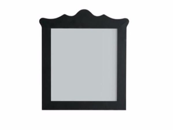 Wall-mounted framed bathroom mirror ETHOS 75 | Mirror by GALASSIA