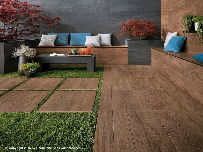 Porcelain Stoneware Outdoor Floor Tiles With Wood Effect Etic Pro