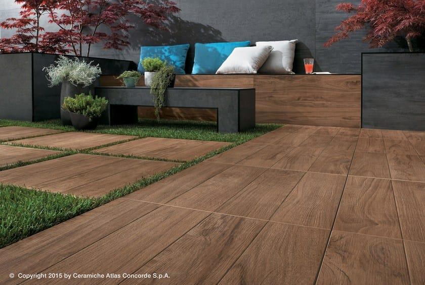 Pavimento per esterni in gres porcellanato effetto legno etic pro