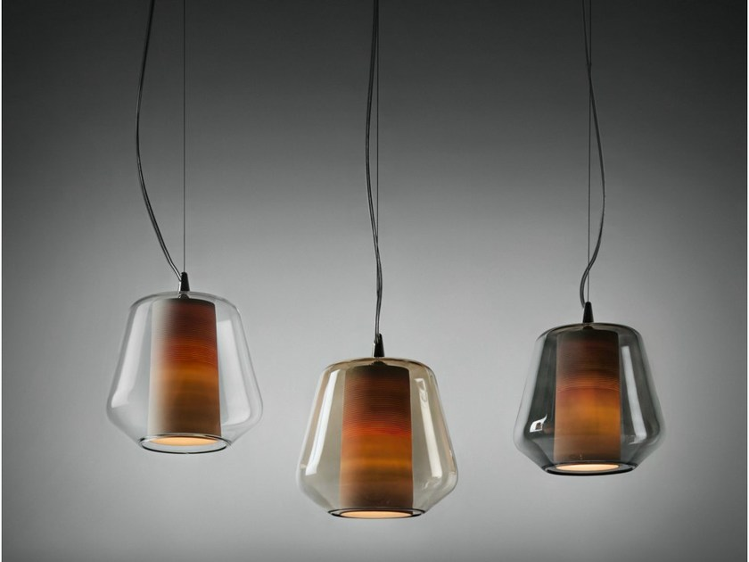 Blown glass pendant lamp ETICA | Pendant lamp by ILIDE