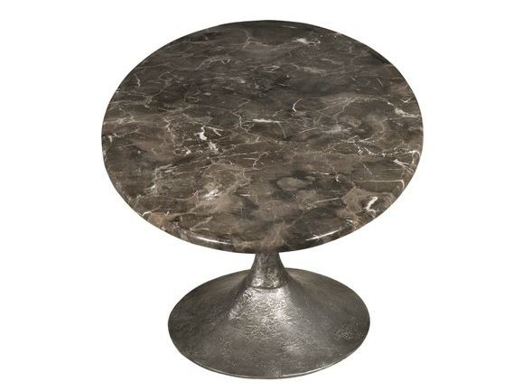 Round marble coffee table ETNA COCKTAIL by Hamilton Conte Paris