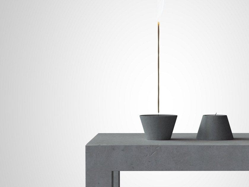 Cement candle holder ETNA by Forma&Cemento