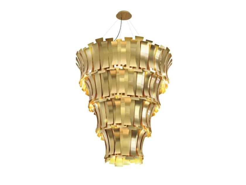 Brass pendant lamp ETTA CHANDELIER by Delightfull