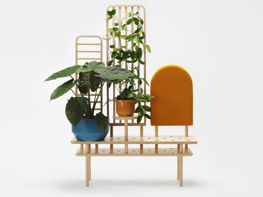 Multi-layer wood bench / room divider ETTA by Zilio A&C