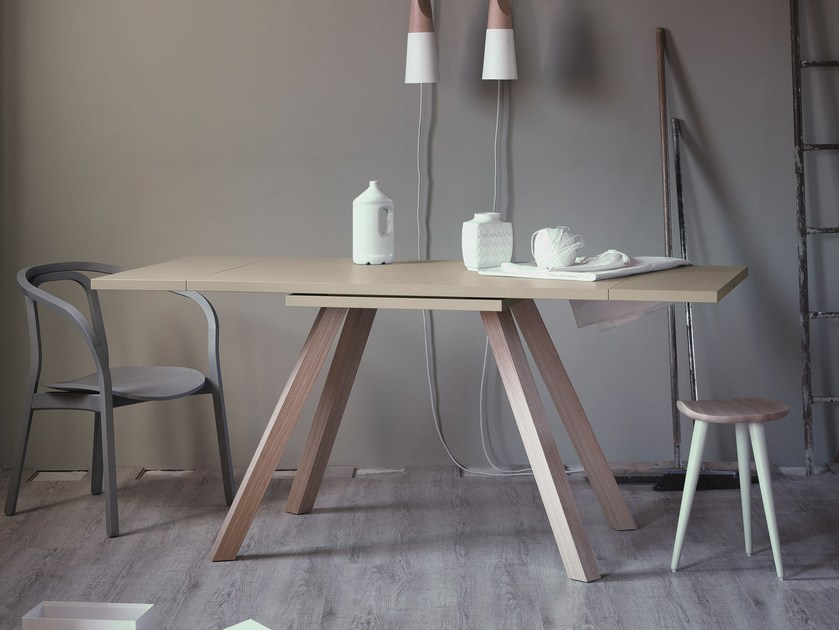 Extending rectangular table ETTORE by Miniforms
